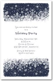 Christmas Party Invitations With Rsvp Cards - midnight snowflakes christmas invitations holiday party