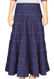 Nice Clothes For Womens Long Denim Skirt Tiered For Women Long Skirts Kosher Casual