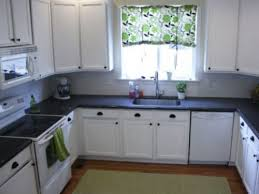 small black and white kitchen ideas modern small white kitchen with black granite countertops best and