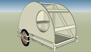 small light cer trailers pvc teardrop bike trailer tiny house design