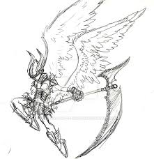 sketch 20 09 13 angel warrior by v by the shadow of dragon on