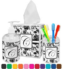 toile bathroom accessories set personalized potty training