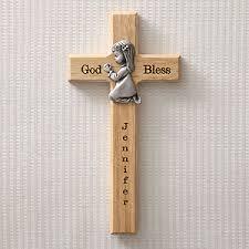personalized communion gifts personalized communion wall cross praying girl baby gifts