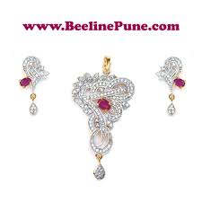 earrings in grt ad cz traditional jewellery pendant set design ruby white