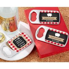 bottle opener favors personalized silver bottle opener with epoxy dome bbq baby