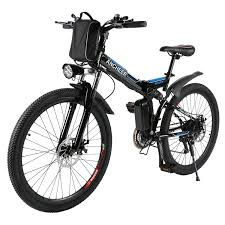 amazon com ancheer folding electric mountain bike with 26 inch