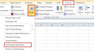 how to select cells randomly in excel