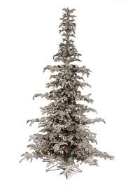 7 5 flocked noble prelit artificial tree winter