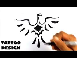 how to draw a bird tribal tattoo design draw tattoo youtube
