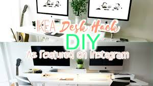 ikea office hack diy ikea desk hack workstation setup likemardons youtube