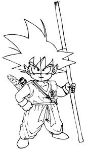 draw son goku child dragon ball drawing