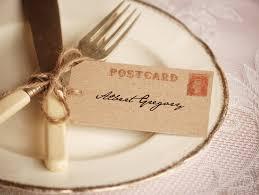 wedding table place card ideas wedding place setting vintage postcard escort card