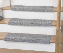 caprice light gray bullnose carpet stair tread with adhesive