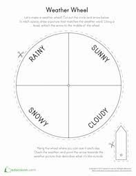 Kindergarten Weather Worksheets Weather Wheel Worksheet Education Com