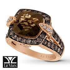 kay jewelers chocolate diamonds jared levian chocolate quartz 1 1 5 ct tw diamonds 14k gold ring