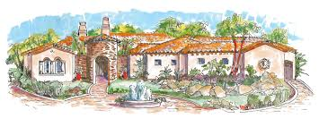 Southwest Style Home Plans Home Plans House Plan Courtyard Home Plan Santa Fe Style Home