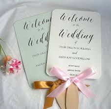 personalized wedding fans wedding fans personalized wedding program fans rustic custom