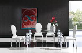 white dining room chairs room furniture set contemporary catchy white dining contrast