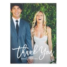 wedding thank you postcards zazzle au