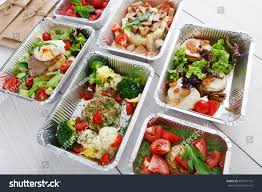 healthy food restaurant delivery diet concept stock photo