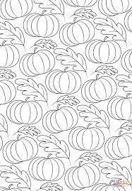pumpkin pattern coloring page free printable coloring pages