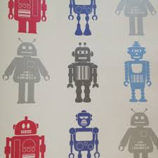 lego wallpaper for kids room wallpapersafari boys room wallpaper this modern robot pattern is from the book e2