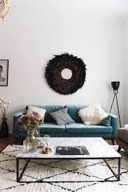 Urbanara Wohnzimmer Berlin Interior Unser Wohnzimmer Mit Samt Sofa Und Marmortisch