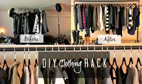 diy clothing rack missfashioneda youtube
