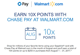 earn 10x points with pay at walmart ymmv sapphire and