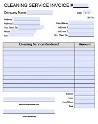 Service Invoice Template Excel Cleaning Services Invoice Pdf Rabitah