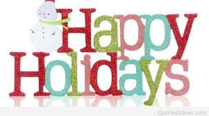 happy holidays saying