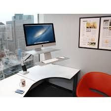 Lx Hd Sit Stand Desk Mount Lcd Arm by Apple Compatible Ergotron 24 414 227 Workfit A Sit Stand Workstation