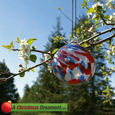 ornaments made in usa white and blue patriotic