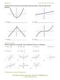 Graphing Functions Worksheet If 1 Relations And Functions Defined Mathops