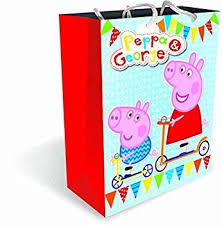 peppa pig large gift bag amazon uk toys u0026 games