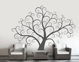 Stick On Wall Swirly Tree Etsy