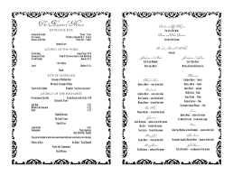 sle of wedding reception program wedding program wedding ideas 2018
