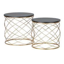 Quatrefoil Side Table Timber Side Table Quatrefoil Metal Acrylic Turquoise