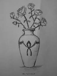 vase with roses sketch by rotemavid on deviantart