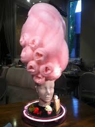 marie antoinette cotton candy head dessert at barton g the