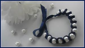 pearl ribbon diy fashion diy ribbon and pearl bracelet