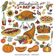 set sketch doodle thanksgiving label vector stock vector 230978797