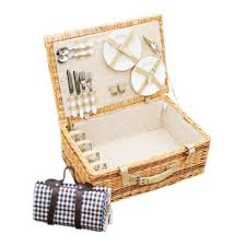 picnic basket for 4 antique large wicker picnic basket with table mat for 4