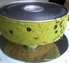 green tea mousse chiffon cake hundred eighty degrees