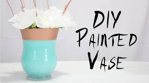 how to decorate vases diy painted vase easy home decor party project youtube