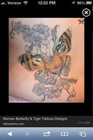 butterfly tiger tattoo this is like the one i have now 2017