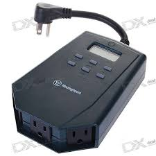 how to program christmas lights westinghouse 3 outlet outdoor heavy duty digital photocell timer