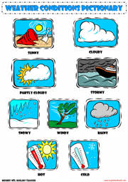 weather conditions esl printable worksheets and exercises