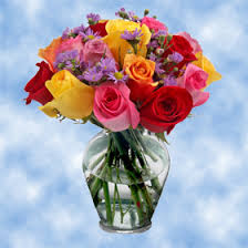 multicolor roses flower arrangements roses and aster centerpieces global