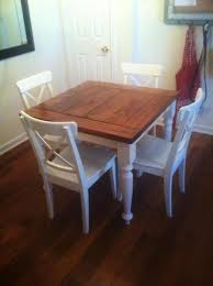 small farmhouse table and chairs square turned leg farmhouse kitchen table do it yourself home